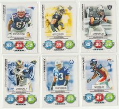 2010 Topps Attax Football Cards Lot of (6) (DEFENSE)