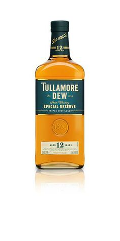 Tullamore Dew 12yr Irish Whiskey has a deep robust taste with spice and linseed oil giving a creamy body and powerful flavor. Sherry notes are evident with a real depth of cinnamon and vanilla. The finish is long and rich with a creamy sherry, dark chocolate and almond taste lingering. – Distiller's notes