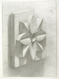 academic drawing plaster models. plaster rosette