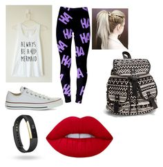 Get out of my hair by rimalee on Polyvore featuring polyvore, fashion, style, Converse, NLY Accessories, Fitbit, Lime Crime and clothing