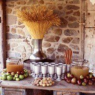 I love warm apple cider in the Fall! How about doing a rustic cider bar at your fall soiree! Distinguish pear and apple ciders by placing a. Harvest Party, Fall Harvest, Harvest Time, Apple Harvest, Harvest Moon, Apple Cider Bar, Spiced Cider, Pear Cider, Apple Cidar