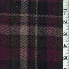 Mulberry/Olive Plaid Wool Outerwear