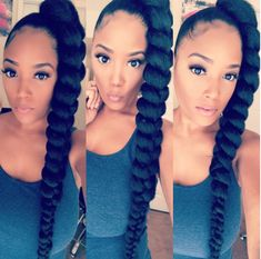Tips And Tricks For Beautiful Hair With Minimum Fuss. While nearly everyone appreciates the look and feel of healthy hair, not everyone understands the best way to obtain it. Ponytail Styles, Ponytail Hairstyles, Curly Hair Styles, Cool Hairstyles, Natural Hair Styles, Side Ponytails, Protective Hairstyles, Protective Styles, Quick Braided Hairstyles
