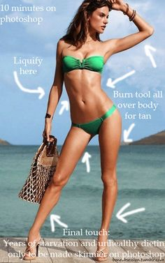 "In response to most peoples ""thinspiration""  its all photoshopped! :D"