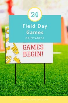 Using these 24 field day game printables, you can easily direct the progress of the athletes through each of the field day games stations. Games For Kids, Activities For Kids, Field Day Games, Sack Race, Event Signage, Gaming Station, Sensory Activities, Outdoor Games, Athletes