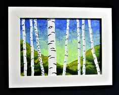 Brightscapes: The Way To Beauty  Blue and Green Birch Forest https://www.etsy.com/listing/217808258/blue-and-green-birch-forest-original  Birch trees have always been a meditative source for me. Growing up, there was one outside my window that I would look at while daydreaming. And, when I needed to get away from the world I went to a grove of Birch trees to find refuge. I've always found the unique and nearly useless white tree interesting.  My work on view at:  @540WMain Show Opening May…