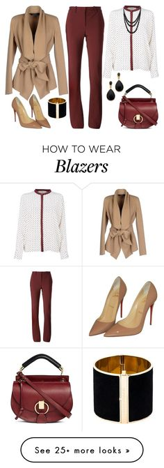 """Untitled #2741"" by emmafazekas on Polyvore featuring Vanessa Bruno Athé, Lanvin, Donna Karan, Christian Louboutin, Chloé, Kenneth Jay Lane, Dsquared2 and Bling Jewelry"