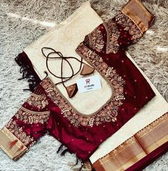 Blouse Back Neck Designs, Fancy Blouse Designs, Bridal Blouse Designs, Hand Embroidery, Saree Blouse, Instagram, Blouses, Outfits, Studio