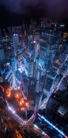 Hong Kong by night Hong Kong, Sci Fi, Photo Wall, Night, Towers, Photograph, Science Fiction