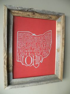 Ohio State Fight Song print