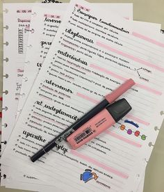 Bullet Journal School, Bullet Journal Notes, Bullet Journal Writing, Bullet Journal Ideas Pages, School Organization Notes, Study Organization, Life Hacks For School, School Study Tips, College Notes