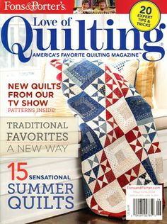 Fons & Porter's Love of Quilting Cover for 5/1/2014