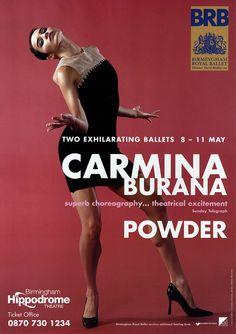Birmingham Royal Ballet - Carmina burana/Powder 2002 poster artwork, Birmingham Hippodrome; Pictured: Leticia Müller in Carmina burana; Photo: Adrian Burrows