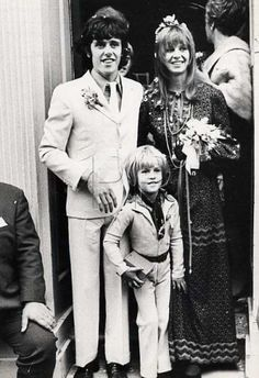 .Donovan & Linda Lawrence pictured with Julian, her son by Rolling Stone Brian Jones.
