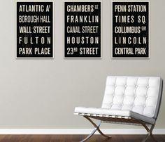 Subway City Prints