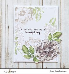 Gorgeous soft background stamping using only some layers of layering set