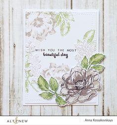 Wish You card for Altenew @akossakovskaya @altenew #cardmaking #altenew