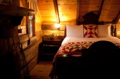 One of the Fugger Cabin bedrooms