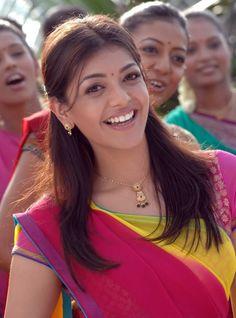 Kajal Agarwal In Red/yellow Saree Kajal Agarwal Saree, Yellow Saree, Indian Beauty Saree, Half Saree, Beautiful Saree, Hd Images, Actresses, Hair Styles, Face
