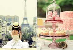 Two must haves in Paris- Watching the Eiffel Tower and enjoying delicious macaroons. www.bespoke-bride.com