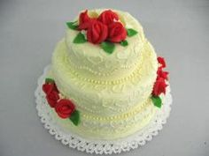 dort třípatrový zdobený Pasta Flexible, Cold Porcelain, Pottery Art, Ceramic Art, Rainbow Colors, Art Dolls, Wedding Cakes, Naked, Miniatures
