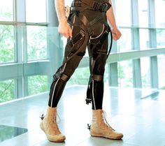 The flexible suit is designed to assist patients with limited mobility.