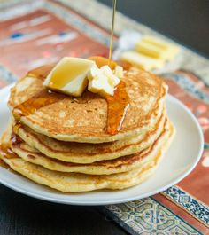 For anyone visiting my site from the photo posted on pinterest of three stacked pancakes with blueberries: That photo is not of these pancakes. Here is the original link/recipe for that photo: &nbs…