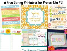 project life  --free spring printables