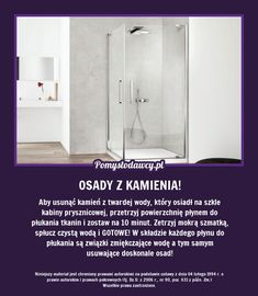 NIEZWYKŁY TRIK NA USUNIĘCIE OSADÓW Z KABINY PRYSZNICOWE… na Stylowi.pl Cheap Hardwood Floors, Guter Rat, Modern Flooring, Home Hacks, Good Advice, Clean House, Housekeeping, Good To Know, Home Remedies