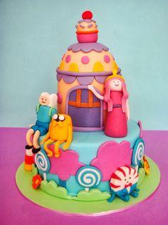 Pastel Hora de Aventura para cumpleaños, cake Adventure time ~ HORA DE AVENTURA