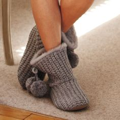 Knitted Booties - Slippers | The White Company