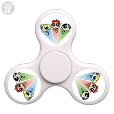 The Super Heros The Powerpuff Girls Fidget Spinner Nice EDC High Speed Stainless Steel Bearing ADHD Focus Anxiety Stress Relief Boredom Killing Time Hand Toys Great Gift-White - Fidget spinner (*Amazon Partner-Link)