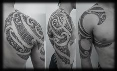 New Zealand Maori Ta Moko Kirituhi Pacific Tribal Half Sleeve with Chest and Full Shoulder Blade Tattoo  - Otautahi Tattloo
