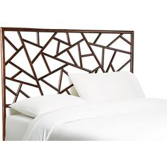 Tiffany Headboard Dark Chestnut Headboards ($1,075) ❤ liked on Polyvore featuring home, furniture, beds, dark chestnut finish, dark brown bed, dark brown furniture, chocolate brown furniture and espresso color furniture