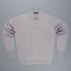 John Smedley Dorset Shirt in Silver