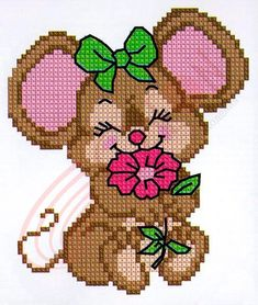 wuinipoo bebe * wuinipoo _ wuinipoo dibujos _ wuinipoo en punto de cruz _ wuinipoo bebe _ wuinipoo amigurumi _ wuinipoo a crochet _ dibujos de wuinipoo _ imagenes de wuinipoo Cross Stitch For Kids, Cute Cross Stitch, Cross Stitch Cards, Beaded Cross Stitch, Cross Stitch Animals, Cross Stitch Designs, Cross Stitch Embroidery, Embroidery Patterns, Hand Embroidery
