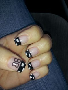 My Nascar nails  @Rachaels nail parlor