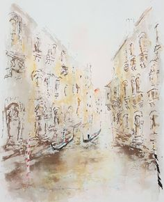 Little Canal in Venice | From a unique collection of landscape prints at https://www.1stdibs.com/art/prints-works-on-paper/landscape-prints-works-on-paper/