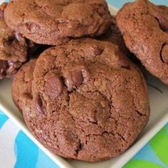 "Chewy Brownie Cookies | ""If a cookie and a brownie had a baby, this would be it. They are amazing!"""