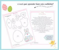 Ateliê do Feltro  | Molde Coelhinho da Pascoa