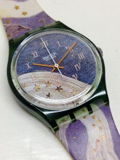 Vintage Swatch Watch Voie Lactée 1993 by ThatIsSoFunny Vintage Swatch Watch Milky Way 1993 von ThatIsSoFunny Vintage Swatch Watch, Weird Jewelry, Beautiful Watches, Watch Sale, Winter Collection, Cool Watches, Jewelry Accessories, Jewels, Purple