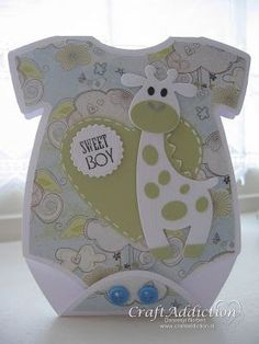 Paper and Fabrics: CraftAddiction Challenge Baby Boy Cards, New Baby Cards, Baby Shower Cards, Baby Boy Shower, Baby Mini Album, Baby Barn, Baby Christening, Welcome Baby, Baby Scrapbook