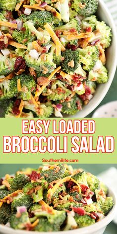 Easy Broccoli Salad, Salad Recipes, Easy Soup Recipes, Cooking Recipes, Sunflower Kernels, Dried Cranberries, Onion, Sandwich Sauces, Taco Chili