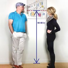 """If you're hanging pictures that will be viewed from a standing position such as in hallways and foyers the best rule of thumb is to hang your artwork so its center hangs at 60"""" to 66"""" from the floor. Regarding hanging pictures at eye level, it can be very confusing especially if you're 5'4"""" and …"""