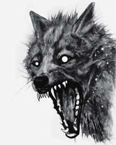 I honestly love the designs, lines, and linework. This is a brilliant concept if you would like a Animal Sketches, Animal Drawings, Art Sketches, Art Drawings, Arte Horror, Horror Art, Wolf Sleeve, Saarloos, Werewolf Art