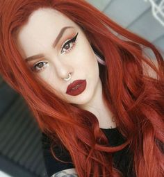 Gorgeous hair, orange lipstick makeup, red hair makeup, redhead makeup, l. Hair Color For Fair Skin, Red Hair Color, Cool Hair Color, Hair Colors, Colour Red, Red Hair Pale Skin, Red Hair Red Lips, Colour Match, Color Black