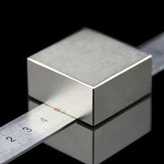 1 ピース ブロック 40 × 40 × 20 ミリメートル スーパーパワフルストロング希土類ブロック ネオジム磁石ネオジム n52磁石-送料無料