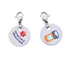 [[description]] [[start tab]] About In an emergency medical situation when every second matters, this bracelet charm can save your life. Those around you will notice your charm and become aware that y