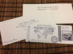 Fly Away Boarding Pass Invitation or Save the by alisamariedesigns, $25.00