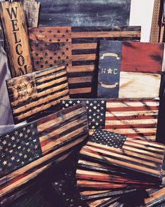 Wood Signs, Flags, American flag, North Carolina, spartan, wood, art, wood signs, distressed wood, painted wood signs